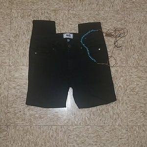 PAIGE verdugo crop black jeans size 27